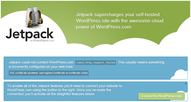 Wordpress Jetpack SSL error